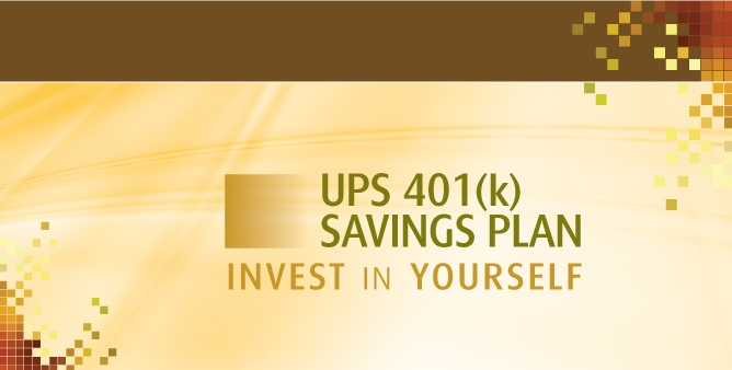 UPS login image text: UPS 401(K) savings plan  invest in yourself